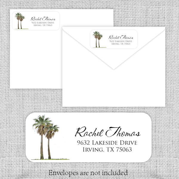 Palm Trees Return Address Labels