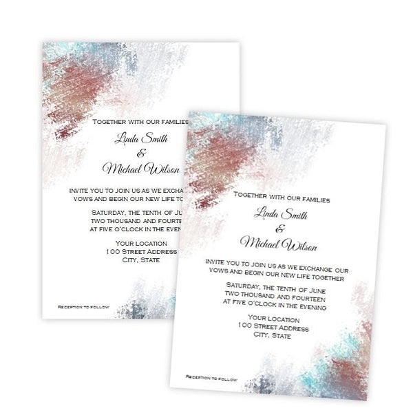 Abstract Wedding Invitation Template