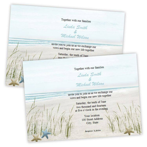 Summer Fun Beach Wedding Invitation Template