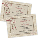 Birds in a Cage Bridal Shower Invitation