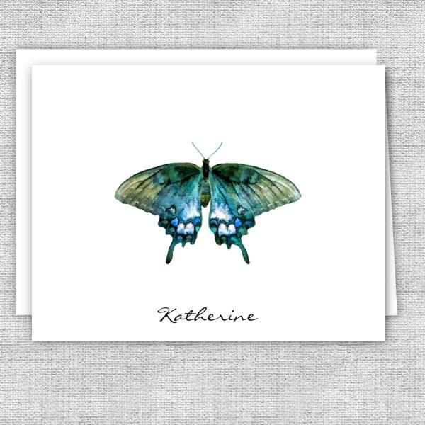 Butterfly Personalized Printed Note Cards