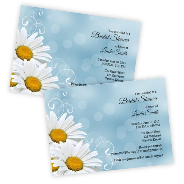 White Daisies Bridal Shower Template