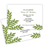 Green Leaves Birthday Printable Template