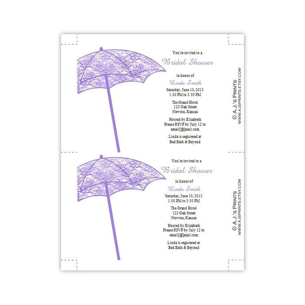 Lacey Umbrella Bridal Shower Invitation