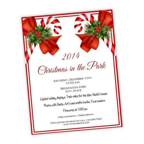 Holiday Wreath Christmas Or Holiday Party Flyer A J S Prints