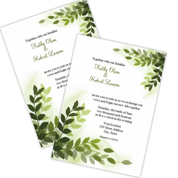 Graceful Ivy Wedding Invitation Template