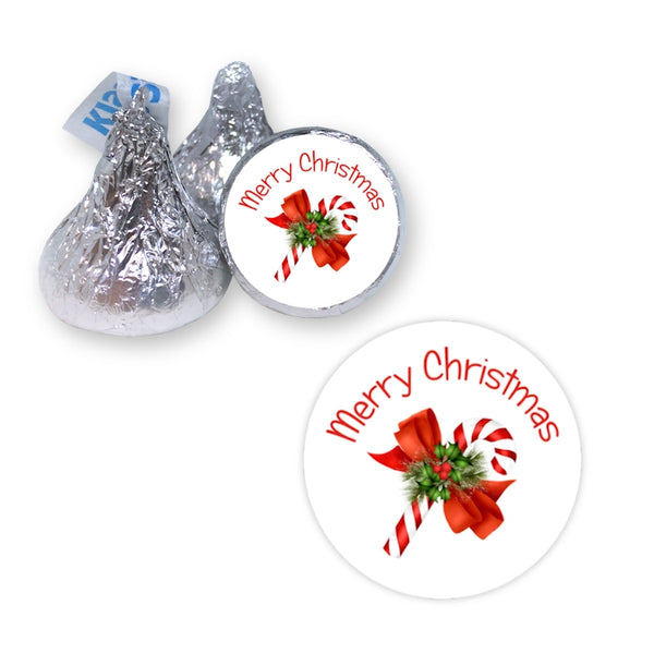 Candy Cane - Hershey's Kiss Stickers