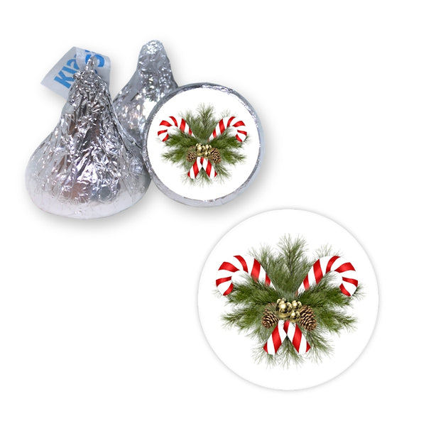 Candy Canes - Hershey's Kiss Stickers