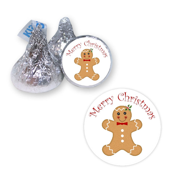 Gingerbread Man - Hershey's Kiss Stickers