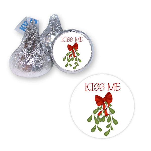 Mistletoe Kiss Me - Hershey's Kiss Stickers