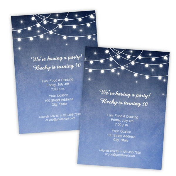 Lights at Night Birthday Invitation