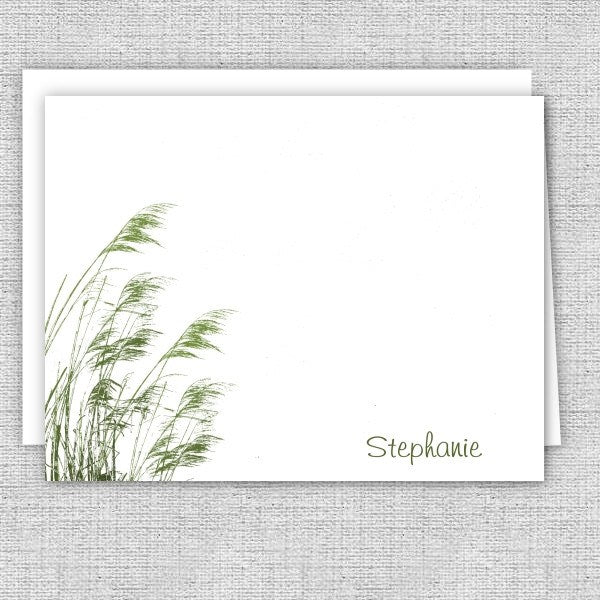 Marsh Grass Printed Note Cards