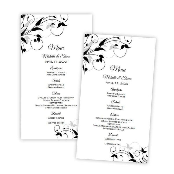 Tiffany Design Wedding Menu Card Template
