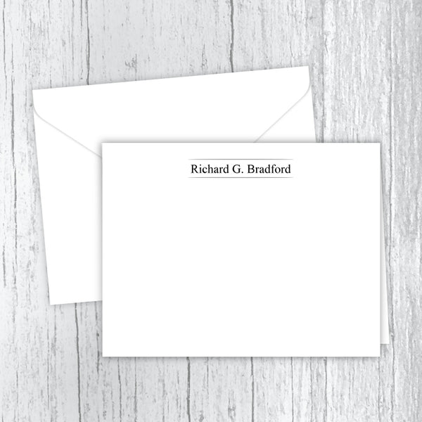 Men's Personalized Note Cards - In Between the Lines