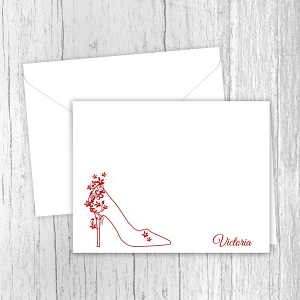 Fancy High Heels Personalized Note Card