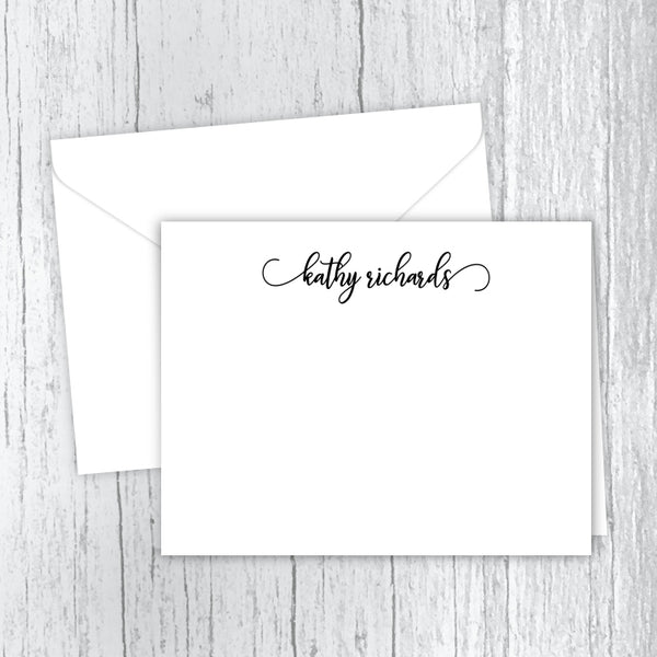 Script Font Personalized Note Card