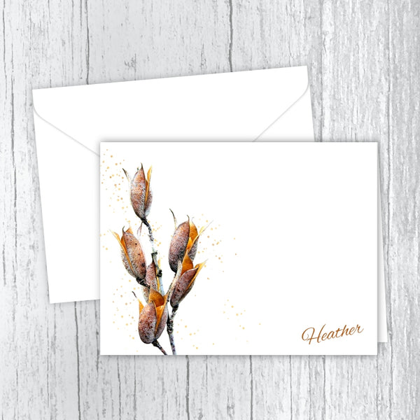 Seed Pods - Personalized Printed Note Cards