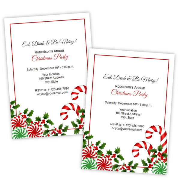 Christmas Candy Party Invitation