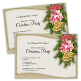 Gold Bells Christmas Party Invitation
