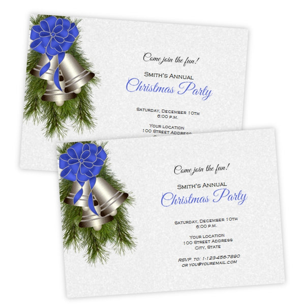 Silver Bells Christmas Party Invitation
