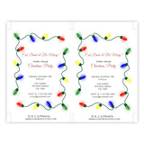 String of Lights Christmas Party Invitation