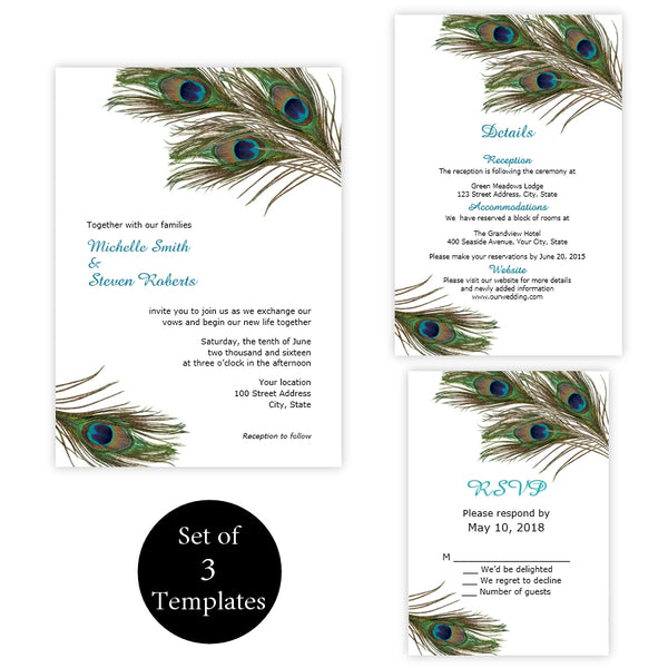 Peacock Feathers Wedding Suite