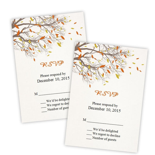 Fall Branches RSVP Card Template