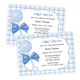 Baby Shower Invitation - Blue Baby Rattle
