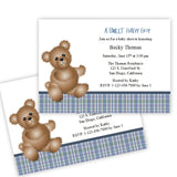 Boy Bear Baby Shower Invitation