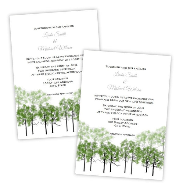 Summer Forest Wedding Invitation Template