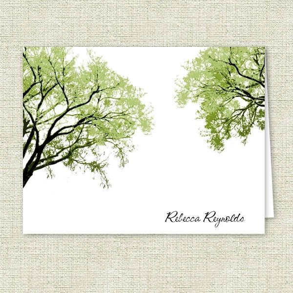 Spring Trees 2 Personalized Note Cards