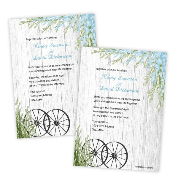 Spring in the Country Wedding Invitation Template