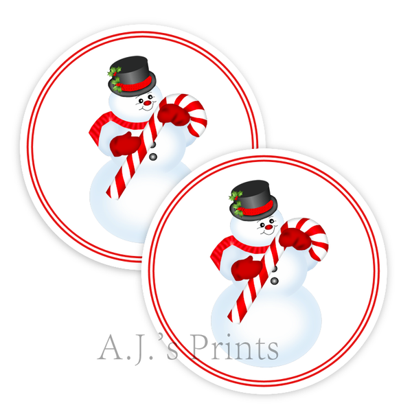Snowman Christmas Stickers