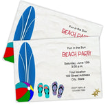 Surfboard Beach Party Invitation Template