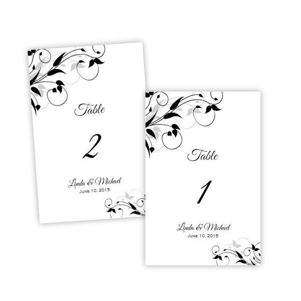 Tiffany Design Table Number Template