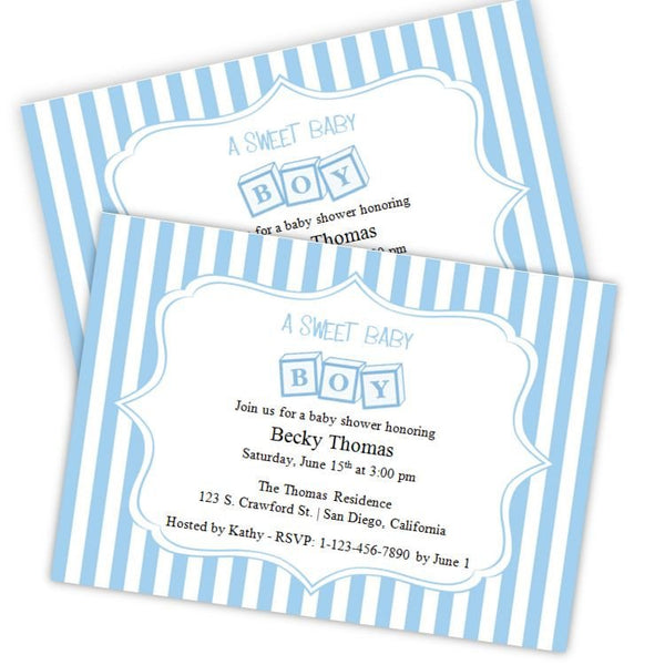 Toy Blocks Baby Shower Invitation