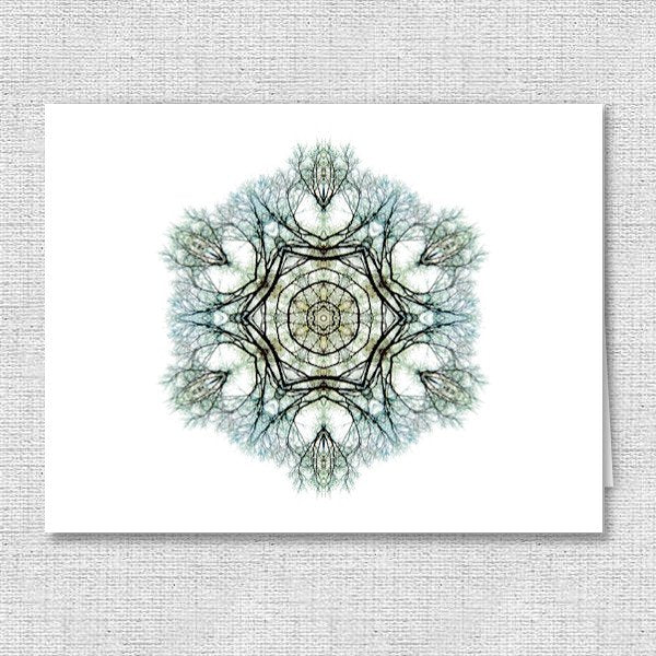Nature Mandala Note Cards