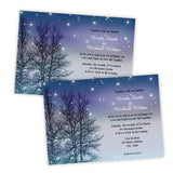 Fall Trees on a Starry Night Wedding Invitation Template
