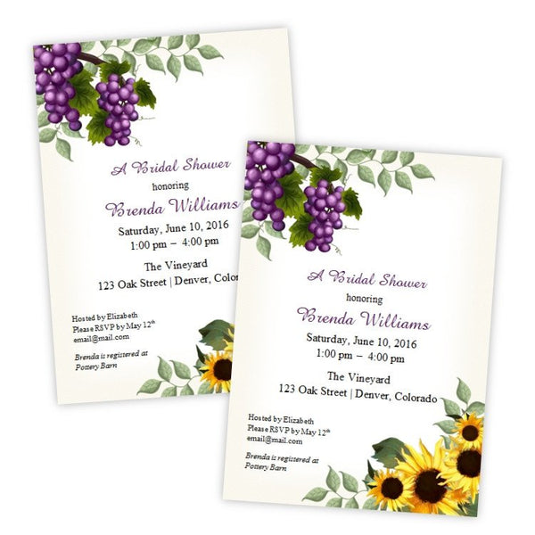 Tuscan Bridal Shower Invitation