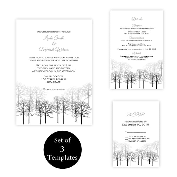 Winter Forest Wedding Suite