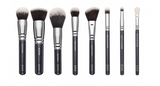 Face and Eyes Brush Set Black and Silver Zoeva®