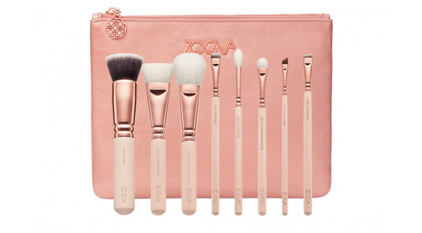 Face and Eyes Brushes Set Pink Gold Zoeva®