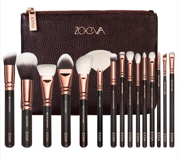 Face and Eyes Brush set Brown and Rose Gold ZOEVA®