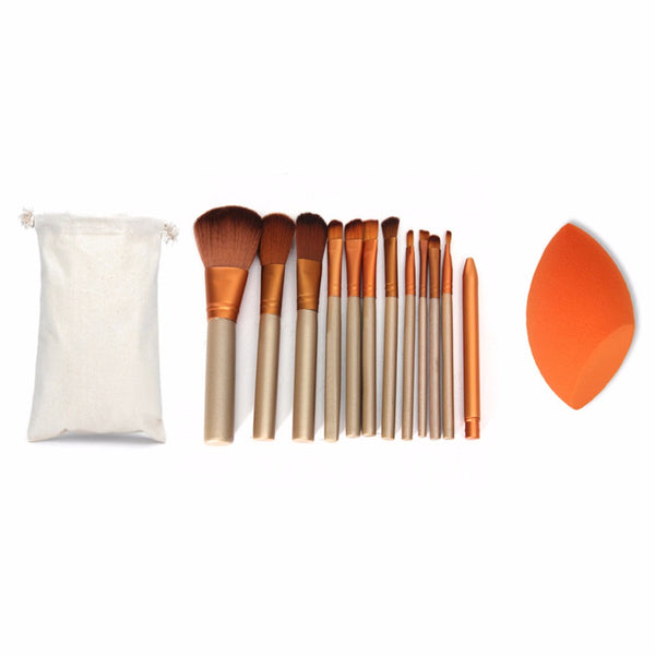 12 Pcs  Brushes Set and  Sponge