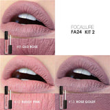 3 Pcs Long-lasting Nude Matte Lipcream