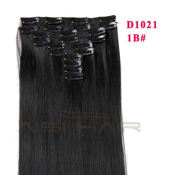 "24"" - 10 pcs Set Hair Extension Straight"
