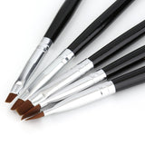 5 Sizes P Brush Set UV Gel Nails