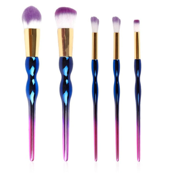 Gourd Handle Colorful Professional Makeup Cosmetic Brushes Set Eyeshadow Lip Blush Foundation Powder For Women Hot Cheap