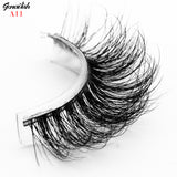 Genailish Mink Lashes 3D False Eyelashes 1 pair Natural Eyelashes Super Quality Fake Eye Lash Extension  for Makeup-A11