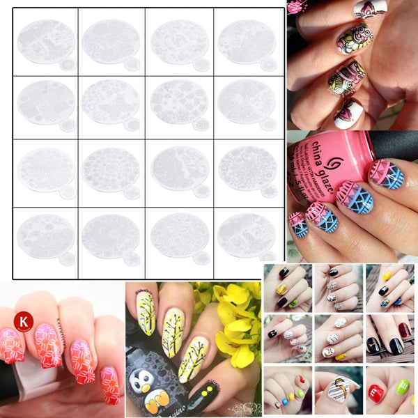 Nail Art Printing Plate Image Stamping Plates Manicure Template With Handle  perfect for professional and home use Quality